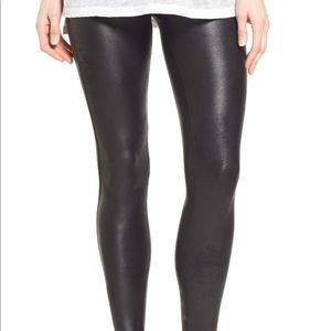 SPANX Faux Leather Leggings Size Large